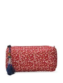 Multipurpose Red Floral Bag - ETHNIC