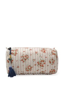 White And Pink Floral Multipurpose Bag - ETHNIC