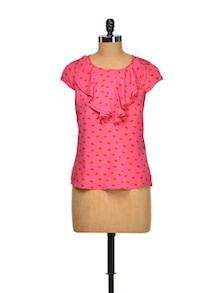 Pink Blush Ruffled Top - Meira