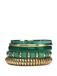 Elegant Blue & Gold Bangles Set - Blueberry