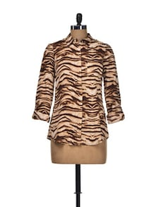 Tiger Print Chic Shirt - Thegudlook