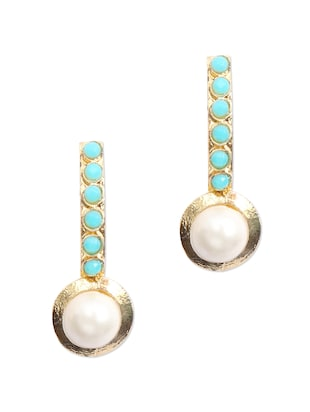 stylish pearl stone studded earrings