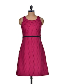 Chic Red Roza Dress - Bluebery D C