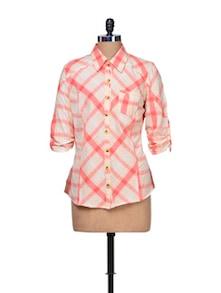 Tangerine Twist Cotton Shirt - A Justbe