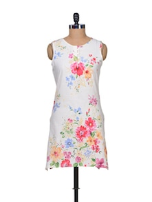 Flower Party Cotton Dress - A Justbe