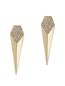 Studded Gold Earrings - Fayon