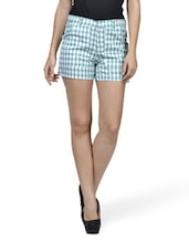 Aqua Love Chequered Shorts - Mind The Gap