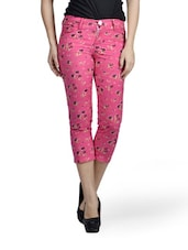 Pink Printed Capri - Mind The Gap