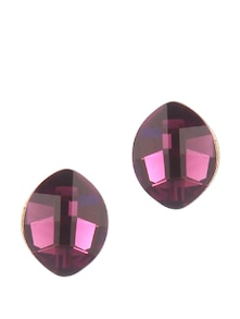 Amethyst Stone With Rose Gold Stud Earring - Addons
