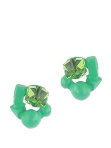3-D Cluster Turquoise Stud Earrings - Addons