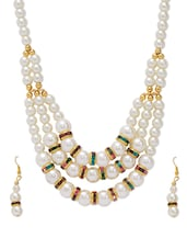 White Cultured Pearl Necklace Set available at Limeroad for Rs.179