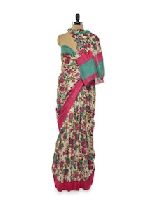 Floral Bloom Saree - Purple Oyster