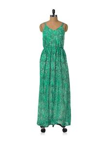 Gorgeous Green Flowy Dress - HERMOSEAR