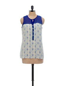 Stylish Blue & White Tunic - AND