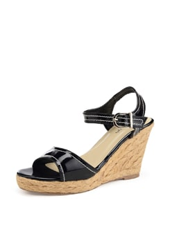 Black Wedge Sandals - Carlton London