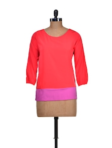 Casual Purple And Red Top - Harpa