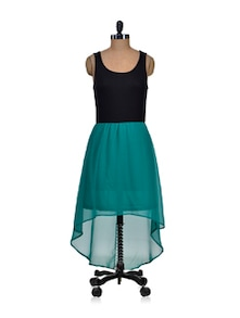 Exotic Short Front Turquoise Dress - Harpa