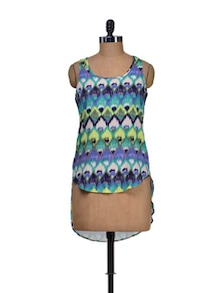 Exotic Print Short Front Top - Harpa