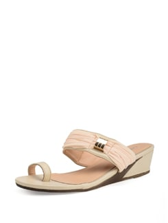 Cream Slip On Sandals - Carlton London