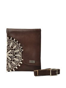 Lace Love Brown Sling Bag - YELLOE