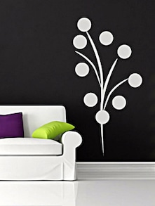 White Ball Wall Sticker