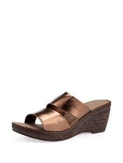 Bronze Wedge Heel Sandals - Carlton London