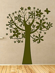 Tree With Butterfly Wall Decal - DeStudio