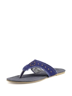 Grey And Blue Canvas Sandals - Carlton London