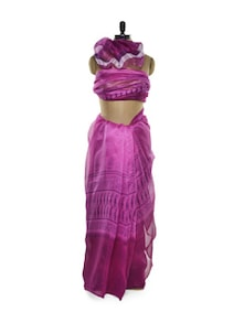 Pink Net Saree - ROOP KASHISH