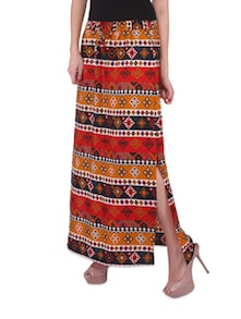Multicolour Printed Ethnic Skirt - Purys