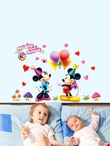 Mickey Minnie Wall Sticker - Uberlyfe