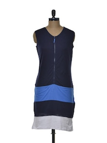 Blue Fitted Dress - CHERYMOYA