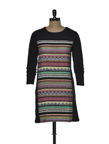 Tribal Print Colourful Dress - CHERYMOYA