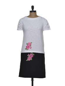 Floral Applique Dress - CHERYMOYA
