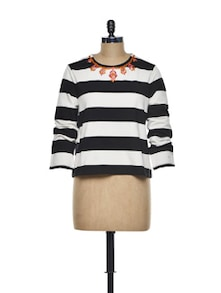 Bold Striped Top - CHERYMOYA