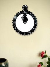 Black Bezel Gear Wall Clock - Kairos