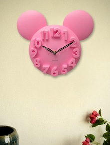 Mickey Mouse 3D Pink Wall Clock - Kairos