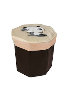 Kids Octagon Shape, Brown Storage Box (Medium) - Uberlyfe