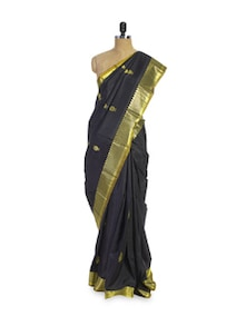 Black And Gold Silk Saree - Pratiksha