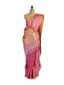 Pretty Pink And Gold Saree - Pratiksha
