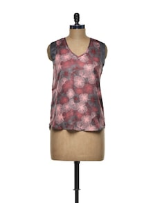 Smooth Floral Polyester Top - I AM FOR YOU