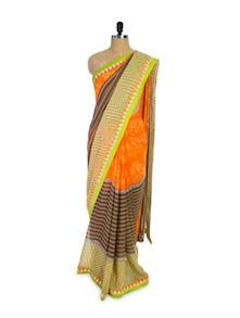 Multicoloured Chiffon Saree - Pothys