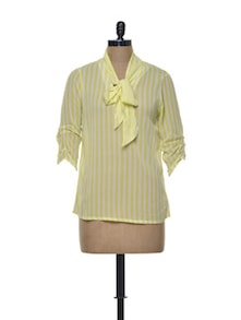 Striped Yellow Top - Meira