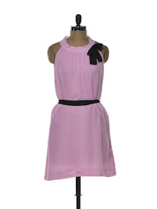 Pastel Pink Halter Dress - Tapyti