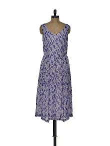 Long Leaf Print Dress - Tapyti