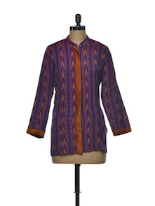 Traditional Ikat Cotton Top - Indie Cotton Route