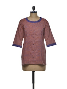 Simple Printed Cotton Shirt - Indie Cotton Route