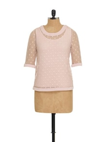 Baby Pink Two-Layer Top - EVogue.Me