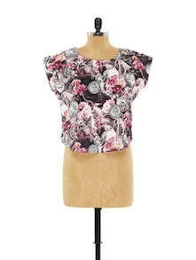 Coin Print Crop Top - EVogue.Me