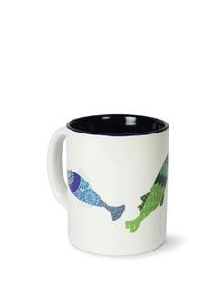 Kuheli Colourful Fish Ceramic Coffee Mug - India Circus